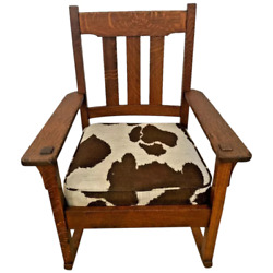 Authentic Stickley Brothers Rocking Chair Quaint Furniture Arts And Crafts C. 1898