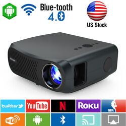 4k Video Projector 1080p Native Blue-tooth Android Wifi Smart Home Led Projector