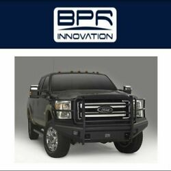Fab Fours For 11-15 Ford F250/350/450/550sd Black Steel Elite Full Guard Bumpers