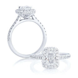 Solid 950 Platinum Traditional 1.35 Carat Real Diamond Engagement Size 5 6 7 8 9