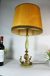 Vintage French Onyx Marble Fish Dolphin Base Table Lamp