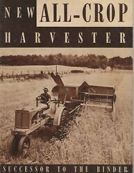 1937 Allis-chalmers All Crop Harvester Full Catalog Super Rare Great Condition