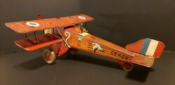 Le Point D'interrogation C. Rossignol Cr 404 Historic Wind Up Toy Airplane
