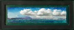 'remembering The Bay I' Original Oil Painting, Framed 9 X 22