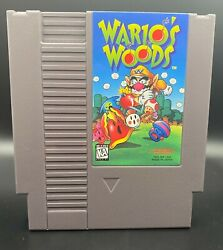 Wario's Woods Nintendo Game And Instruction Manual - Highly Collectible Nes Game
