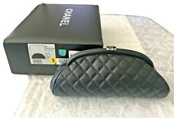 Authentic Classic Vintage Caviar Cc Black Diamond Quilted Timeless Clutch