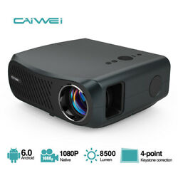 100001 Native 1080p Android Projector 4k Video Led Zoom Blue-tooth Home Cinema
