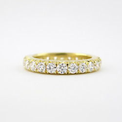Solid 14k Yellow Gold Sparkling 1.75 Ct Diamond Engagement Band Size 5 6 7.5 8 9