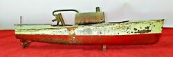 Steam Boat. Tin Toy. Probable Boucher Production. France. Circa 1920
