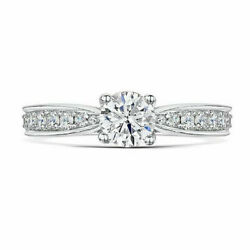 Christmas Gift 1.05 Ct Real Diamond Engagement Ring Solid 950 Platinum Size 5 6