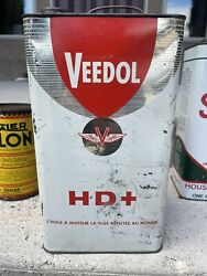 Vintage Veedol Oil Can 1 Gallon Oil Can