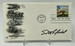 Scott Crossfield Signed First Day Cover Jsa Coa