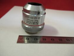 Zeiss Germany Objective 460269 4x Epi Optics Microscope Part As Pictured 12-a-18