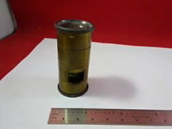 For Parts Antique Brass Portable Seeds Microscope Vintage Part As Is And92-25