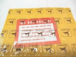 Nos John Deere Back Hoe Tractor Do Not Grease Decal Label T51844