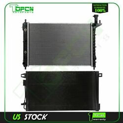 Fits Chevrolet Traverse Saturn Outlook Replacement Radiator And Condenser Assembly