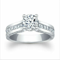 2.21 Ct Round Diamond Ring 14k Real White Gold Size All Christmas Sale 9