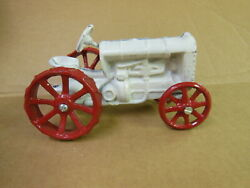 Old Cast Iron Fordson Tractor Toy - Vintage