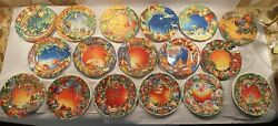 Lot Of 17 Gien Season's Greeting Christmas Collector Plates 1995-2011 Excellent