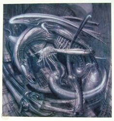 H.r. Giger Signed Limited Edition Lithograph - Alien Monster Iv