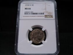 1930-s Ms66 Buffalo Nickel Ngc Certified Superb Gem - Toned/dove Gray/gold Hues