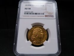 1818w Au58 France Gold 40 Francs Ngc Certified - Pq For Grade/beautiful Coin