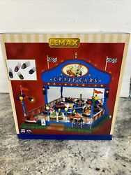 Lemax Crazy Cars Carnival Ride 2006 Animated Lighted Retired Rare Mint Nib Box