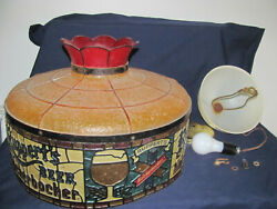Ruppert's Knickerbocker Beer Faux Stained Glass Plastic Shade