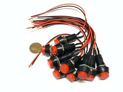 100 Pieces Wired Red Momentary Push Button Switch Dc Red 3a 12mm Car On/off C16