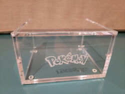 Pokemon Acrylic Display Case For Booster Box Fits Wotc With Logo