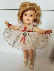 13 Ideal 1930's Shirley Temple Composition Doll Orig. Box And Pin And Photo Curlers
