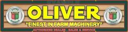 Oliver Tractor Farm Machinery Dealer Letter Sign Remake Banner Mural Xxl Sizes