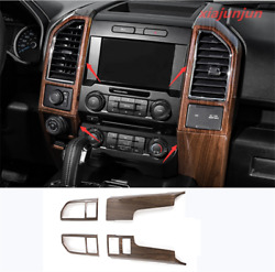 Wood Grain Interior Control Outlet Air Vent Cover Fit For Ford F150 2015-2020