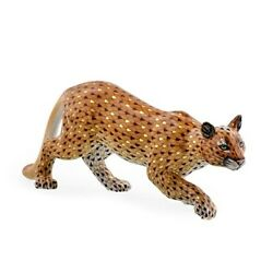 Herend Hungary Porcelain Mountain Lion 16116vhsp135 Fishnet New Limited Ed