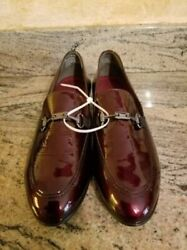 Munro Harrison Ruby Red Burgundy Loafer Shoes Patent Leather Size 9.5n New Usa