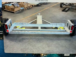 Car Tow Dolly With Fully Vented Disc Brakes Stand Up Storage Assembled