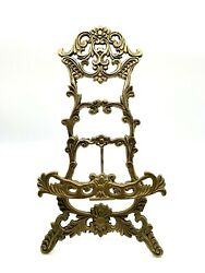 Vintage Solid Brass Tri-legged Easel Picture/ Book/ Sheet Music Stand
