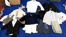 Boys Dress Clothes, Suits, Ties, Vests, Shirts, Size 6/7 And Under, Large Lot
