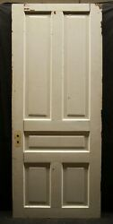 3 Avail 32x79 Antique Vintage Old Solid Oak Wood Wooden Interior Doors 5 Panel