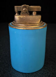 Vintage Hammersley And Co. England Bone China Turquoise Table Lighter 6136/2