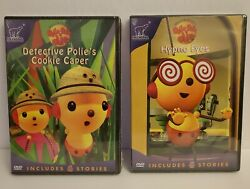 Rolie Polie Olie Lot Of 2 Dvd Detective Polie's Cookie Caper And Hypno Eyes