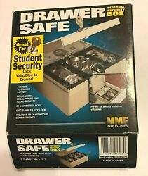 Drawer Safe Key Lock Security Box 4 Cash And Personal Valuables+ Tray- Mountable