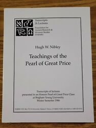 Teachings Of The Pearl Of Great Price.transcripts 26 Lectures Pb Hugh Nibley 14e