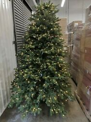 Open Box Balsam Hill Fraser Fir 7.5' Tree With Candlelight Led Lights Christmas