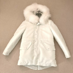 Mr And Mrs Italy White Down New York Jacket Parka