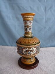 Villeroy And Boch Mettlach Germany C1885 Figural Archery Theatre Theme Vase 1591