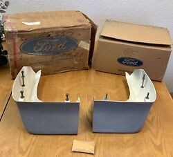 Nos Ford 1969-70 Shelby Gt Sportsroof Quarter-extentions, Left And Right Frp Nib