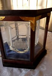 Kosta Boda - 1978 Etched Historic Crystal Ships Bowl Wooden And Glass Display Case