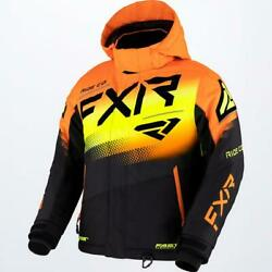 2022 Fxr Youth Child Kids Boys Boost Blk/org/hivis Snow Jacket -size 8-10-12-14
