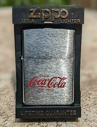 Zippo Coca-cola Lighter From Japan Vintage 1998 / New Old Stock / Rare